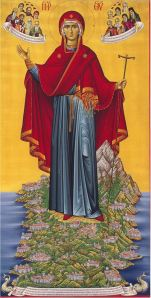 Most Holy Theotokos, the Abbess of Mount Athos - icon painted by the fathers of the Cell Bourazeri