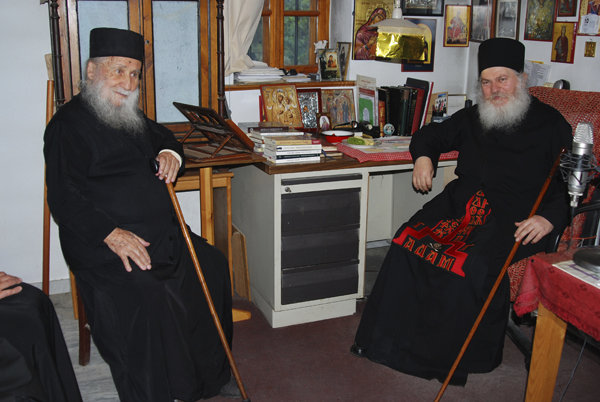 Gheronda Iosif cu staretul Efrem