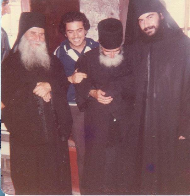Batranul Iosif Vatopedinul, Cuv. Paisie Aghioritul, Diac. Athanasios, viitor Mitropolit de Limassol
