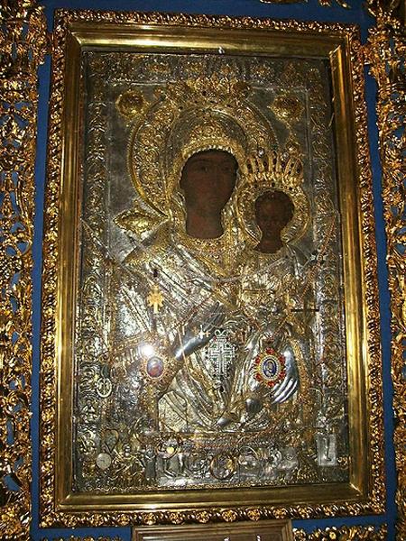 """Icoana Maicii Domnului făcătoare de minuni """"Hodigitria"""" de la Xenofont, Sfântul Munte Athos"""