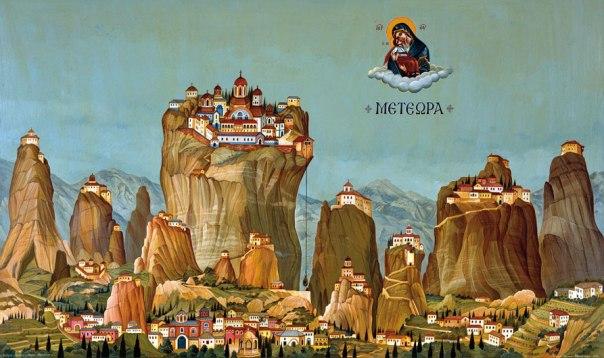 Meteora, 1990. 108x170cm. acrylic