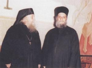 Parintii Sofronie Saharov si Emilianos Simonopetritul