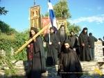 Vatopedi. Procesiune cu Icoana Maicii Domnului Vimatarissa de praznicul Sf. Ilie, 2 aug. 2013 (36)