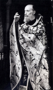 Parintele Emilianos Simonopetritul slujind