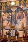 Fresca cu Gheron Iosif in Paraclisul Catedralei din Sfantu Gheorghe3