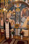 Fresca cu Gheron Iosif in Paraclisul Catedralei din Sfantu Gheorghe4