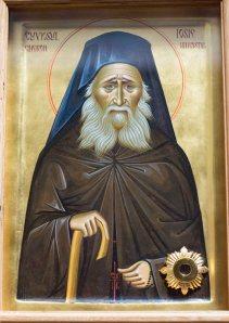 Icoana Cuviosului Iosif Isihastul la Sfantu Gheorghe cu cinstite moaste
