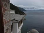 The Athos shore from Grigoriou